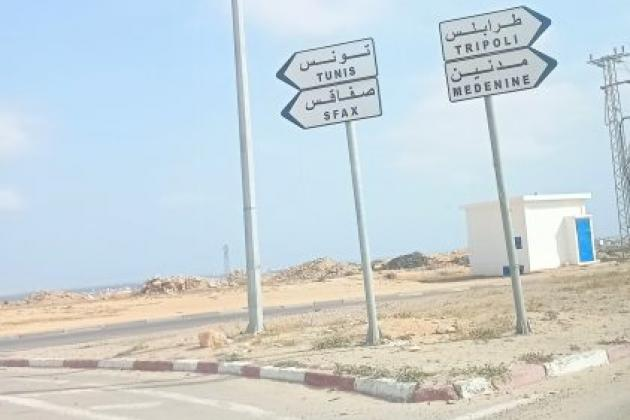 Sur la route vers la Lybie